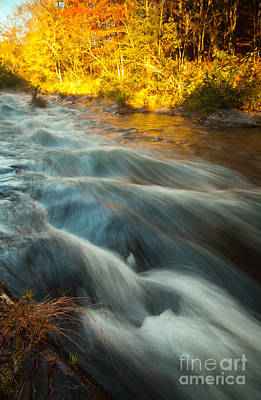 Waves In The River Art Print