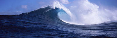Splashing In The Tide Photograph - Waves In The Sea, Maui, Hawaii, Usa by Panoramic Images