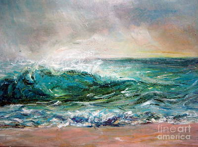 Art Print featuring the painting Waves by Jieming Wang