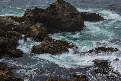 Photograph - Waves Meet Rock by Suzanne Luft