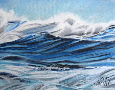 Painting - Waves by Michael Foltz