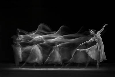 Ballet Photograph - Waves Of Balerina by Antonyus Bunjamin (abe)