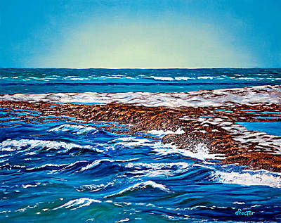 Painting - Waves Of Blue by Donna Proctor
