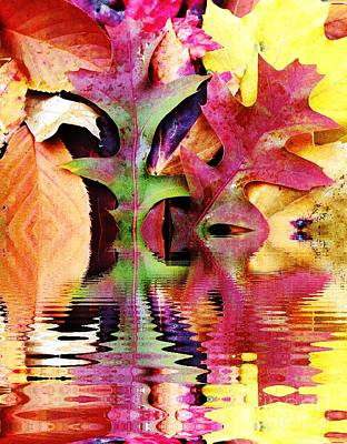 Waves Of Color Art Print by Judy Palkimas