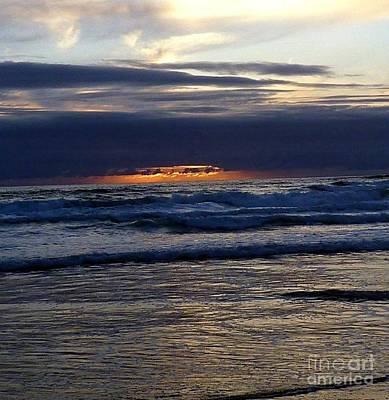 Photograph - Waves Of Red Sky Sunset by Susan Garren