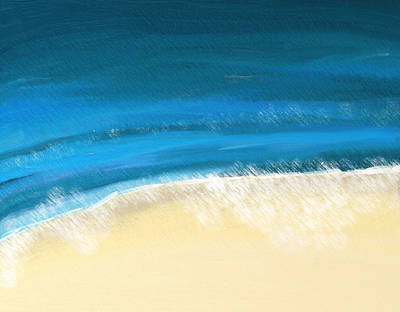 Painting - Waves On A Dorset Beach Abstract Seascape by Eliza Donovan