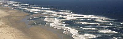 Waves On The Beach, Florence, Lane Art Print by Panoramic Images