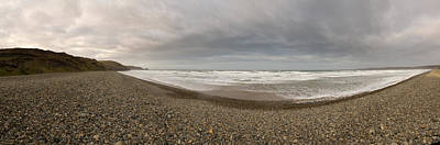 Waves On The Beach, Newgale Beach, St Art Print by Panoramic Images