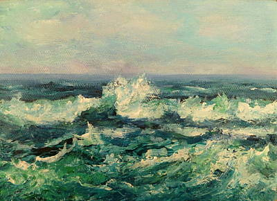 Waves Painting Art Print