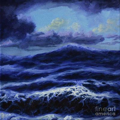 Seastorm Painting - Waves by Ric Nagualero