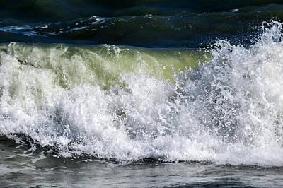 Waves Splashing Art Print by Zina Stromberg