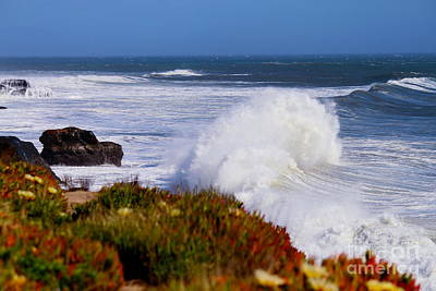 Art Print featuring the photograph Waves by Theresa Ramos-DuVon