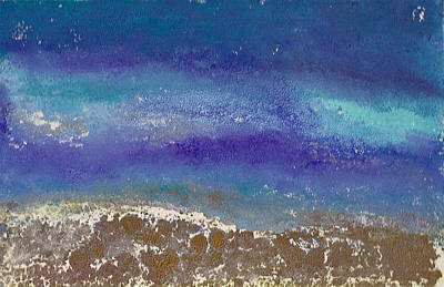 Printmaking Mixed Media - Waves Under The Moonlight by Shan Ungar