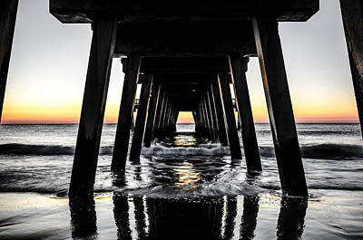 Photograph - Waves Under The Tybee Island Pier At Sunrise by Anthony Doudt