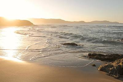 Rose - Waves washing onto Corsican beach by Jon Ingall