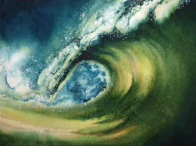 Big Wave Painting - Wavestorm 2 by Nelson Ruger
