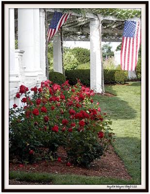Digital Art - Waving American Flag by Angelia Hodges Clay