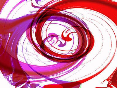 Digital Art - Circling Grace 3 by Kristi Kruse