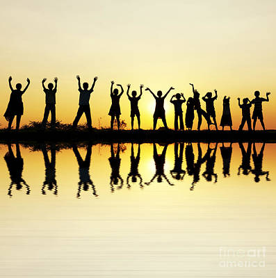 Joyful Photograph - Waving Children by Tim Gainey