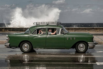 Havana Photograph - Waving Malecon by Andreas Bauer