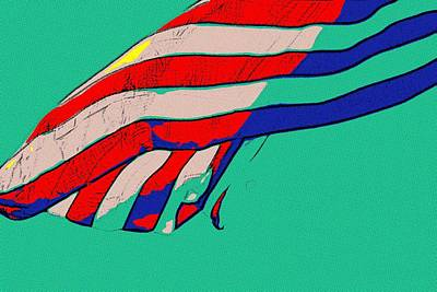 Flag Painting - Waving Stripes by Florian Rodarte