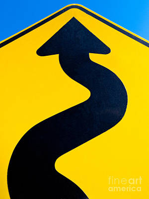 Ambition Photograph - Wavy Arrow Concept Of Winding Road To Success by Stephan Pietzko