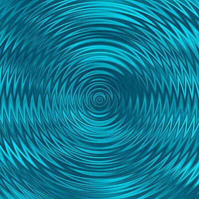 Digital Art - Wavy Blue Background by Valentino Visentini
