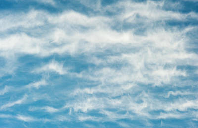 Arizona Photograph - Wavy Clouds In A Blue Sky by Brian Stablyk