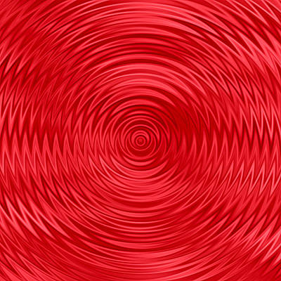 Digital Art - Wavy Red Background by Valentino Visentini