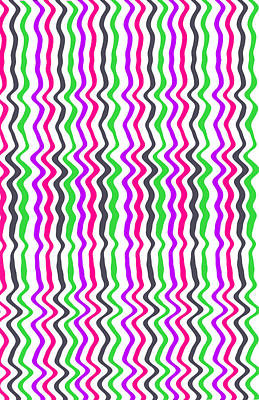 Repeating Digital Art - Wavy Stripe by Louisa Hereford