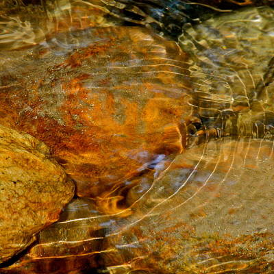 Wavy Water On Colorful Rocks Art Print