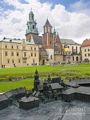 Photograph - Wawel Castle And Bronze Sculpture by Brenda Kean