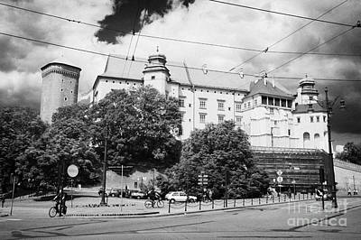 Cracovia Photograph - wawel castle including road and one of the three security towers the Senatorial tower krakow by Joe Fox
