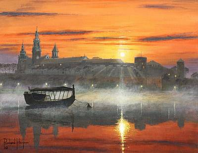 Poland Painting - Wawel Sunrise Krakow by Richard Harpum