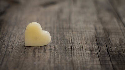 Affection Photograph - Wax Heart by Aged Pixel