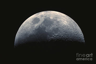 Waxing Crescent Moon 11-1-2011 Art Print