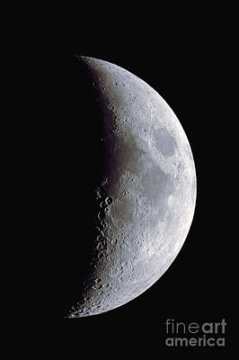 Waxing Crescent Moon, 11-30-2011 Art Print