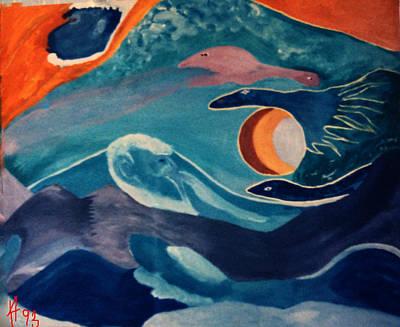 Hera Painting - Way Beyond Paint Year 1993 by Colette V Hera  Guggenheim