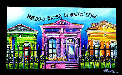 Way Down Yonder In New Orleans Art Print by Terry J Marks Sr