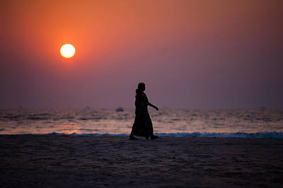 Photograph - Way Home. Goan Sunset. India by Jenny Rainbow