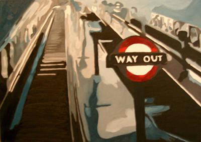 Way Out Art Print by Glen Heppner