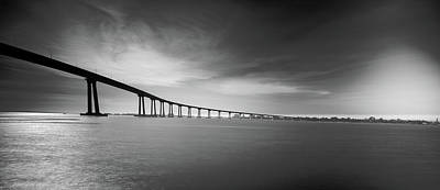 Coronado Bay Photograph - Way Over The Bay by Ryan Weddle