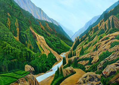 Himalaya Painting - Way To Gangotri by Ajay Harit