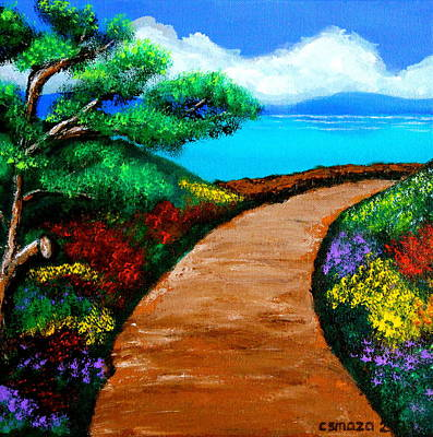 Filipino Artist Painting - Way To The Sea by Cyril Maza
