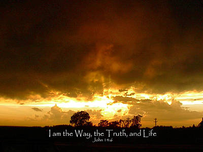 Way Truth Life Art Print by Robyn Stacey