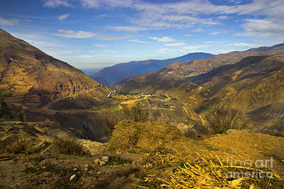 Patchwork Quilts Photograph - Way Up In The Ecuadorian Andes by Al Bourassa