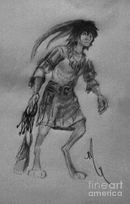 March Hare Drawing - Wayfarer by Michelle Rene Goodhew