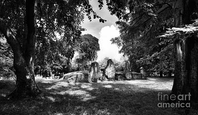 Neolithic Photograph - Wayland's Smithy Monochrome by Tim Gainey