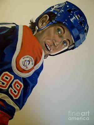 Wayne Gretzky Painting - Wayne by Graham McLeod