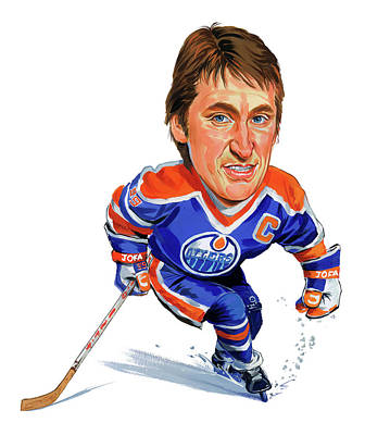 Comics Royalty-Free and Rights-Managed Images - Wayne Gretzky by Art